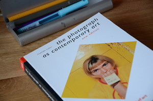 The Photograph as contemporary art book lying on a desk